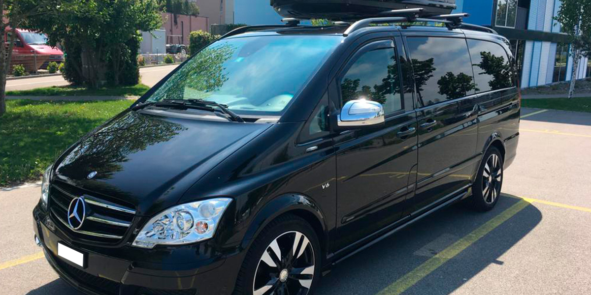 Mercedes-Benz Viano Grand Edition Avantgarde Lang (for 5 passengers) + luggage trailer